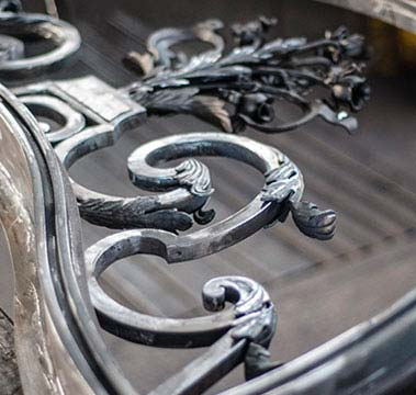 Copete de forja artesana