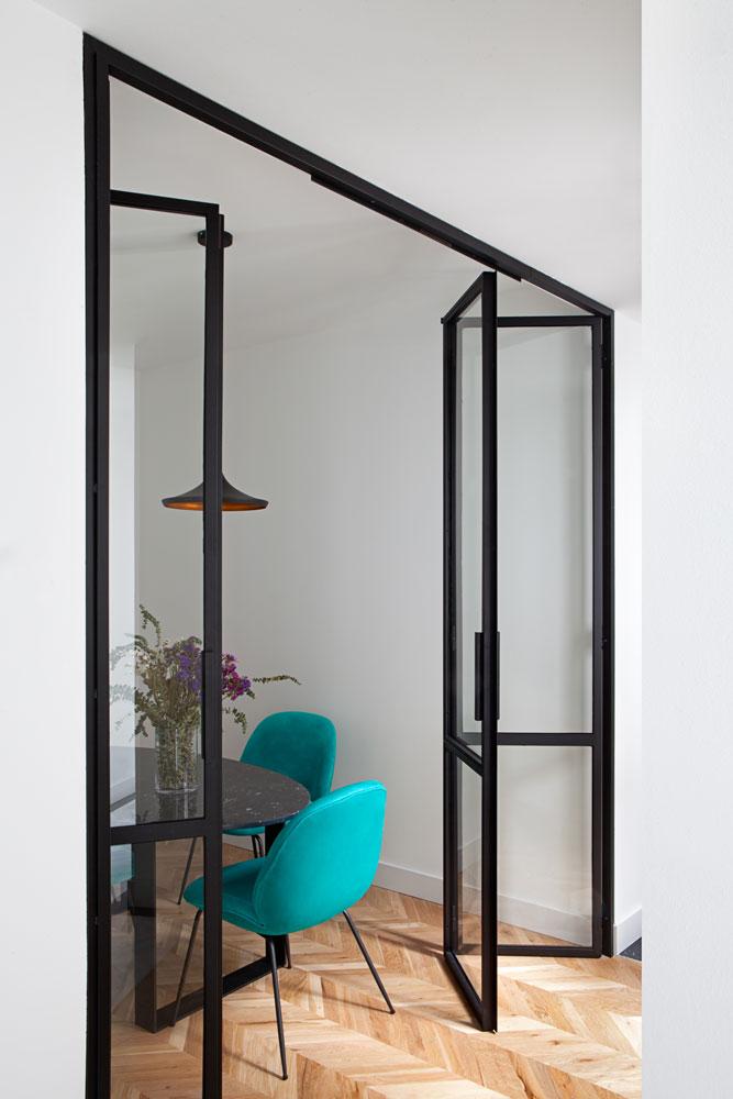 Puerta Forja interior hierro y cristal Industrial (1)