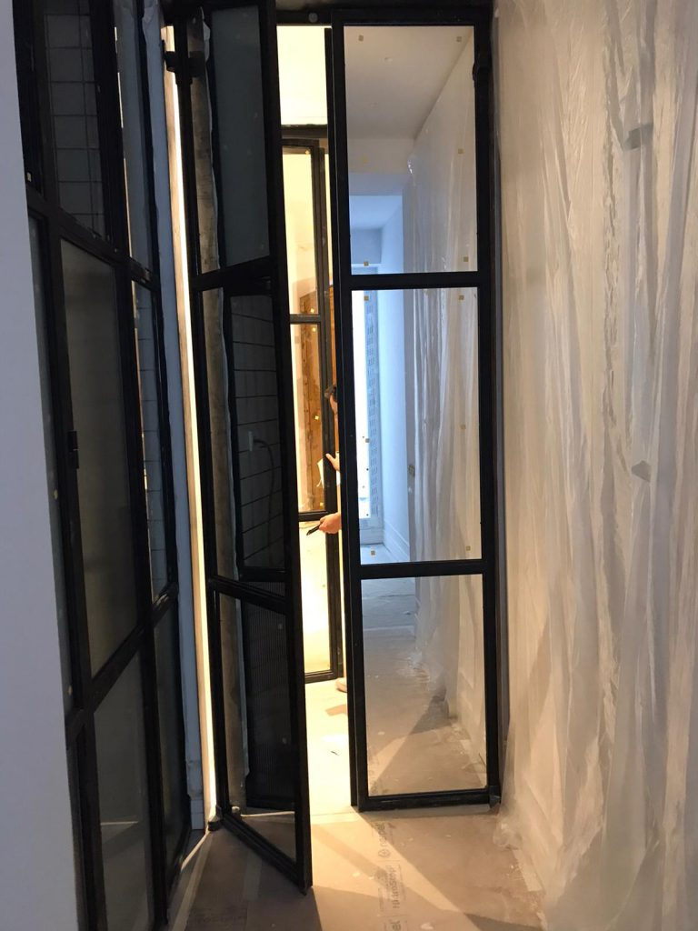Puerta Forja interior hierro y cristal Industrial (11)