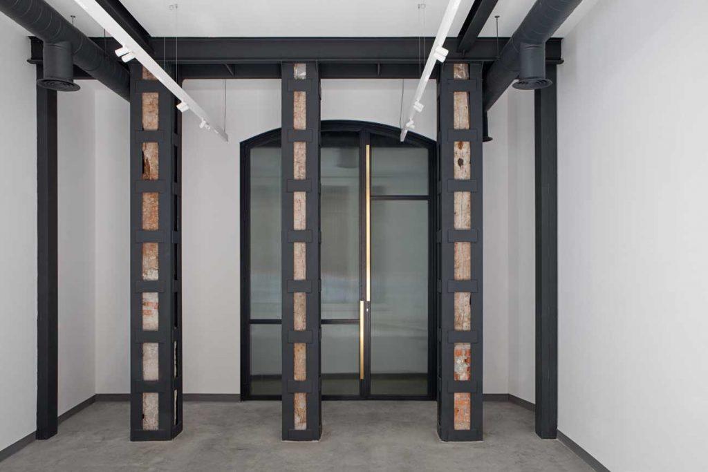 Puerta Forja interior hierro y cristal Industrial (3)