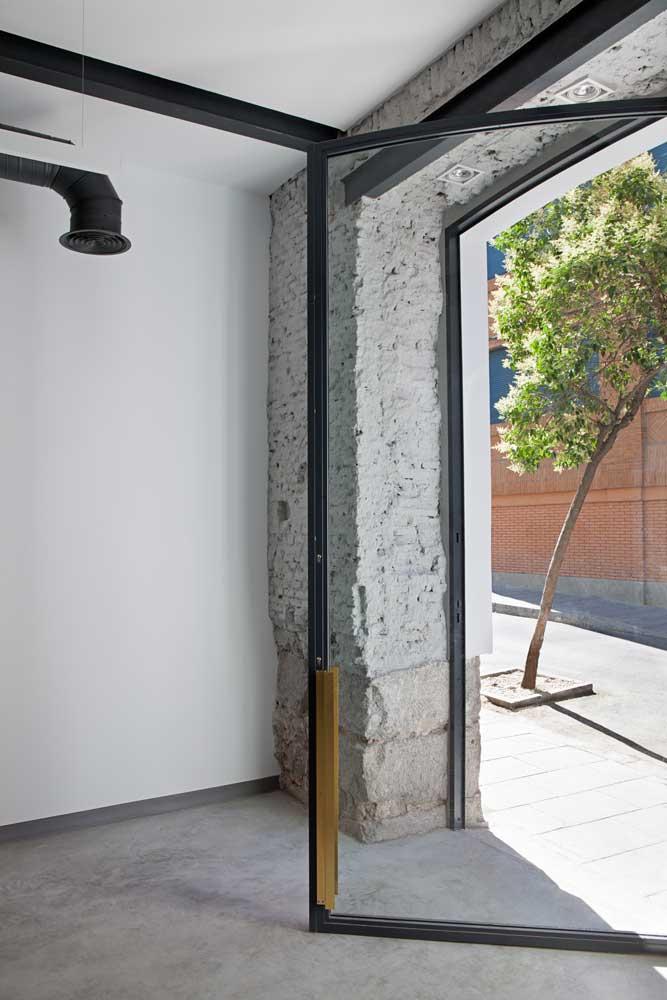 Puerta Forja interior hierro y cristal Industrial (5)