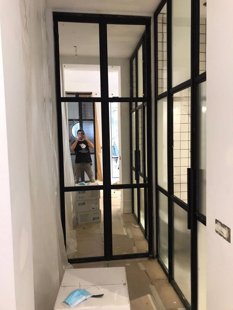 Puerta Forja interior hierro y cristal Industrial (8)
