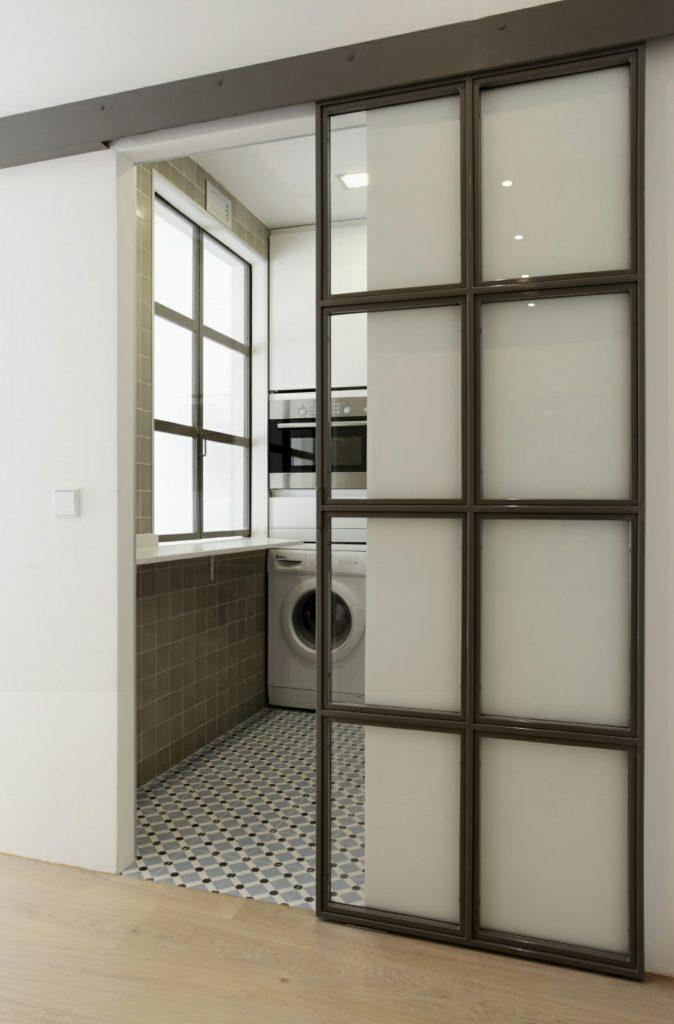 Puerta Forja interior hierro y cristal Industrial (9)